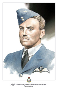 Flight Lieutenant James Paterson - portrait by Geoff Nutkins