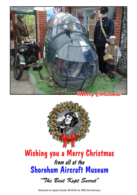 Wishing you a Merry Christmas from the Shoreham Aircraft Museum